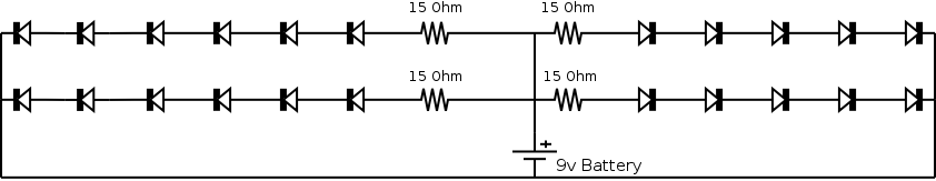 Schematic of the LED circuit